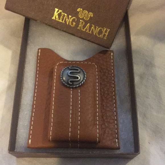 King Ranch Accessories Leather Cash Card Money Clip Poshmark